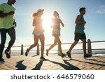 group of runners running on... | Shutterstock . vector #646579060