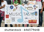 Small photo of Music Taste Passion Lifestyle Word Graphic