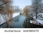 Idyllic Bridge Over Icy River...