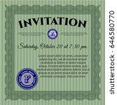 green retro invitation template.... | Shutterstock .eps vector #646580770
