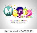 merry christmas colorful... | Shutterstock .eps vector #64658215
