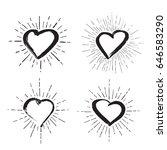 vector art illustration grunge... | Shutterstock .eps vector #646583290