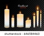 vector realistic glowing... | Shutterstock .eps vector #646584463