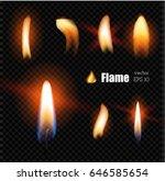 vector realistic fire  glowing... | Shutterstock .eps vector #646585654