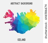 iceland map in geometric... | Shutterstock .eps vector #646586674