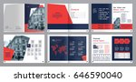 design annual report vector... | Shutterstock .eps vector #646590040