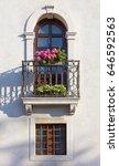 Flowered Balcony And Windows On ...