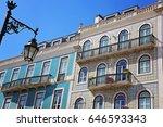 lisbon  bairro alto streets | Shutterstock . vector #646593343