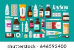 medicine  pharmacy  hospital... | Shutterstock .eps vector #646593400