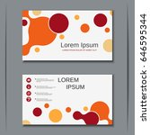 abstract style visiting card... | Shutterstock .eps vector #646595344
