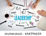 leadership concept. the meeting ... | Shutterstock . vector #646596634