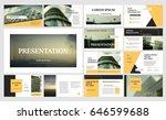 original yellow presentation... | Shutterstock .eps vector #646599688