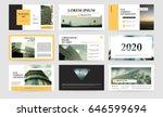 original presentation templates ... | Shutterstock .eps vector #646599694