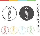 vector set of spring onions... | Shutterstock .eps vector #646600318