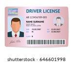 flat man driver license plastic ... | Shutterstock .eps vector #646601998