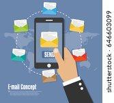 e mail concept flat icon