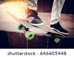 skateboarder guy is getting... | Shutterstock . vector #646605448