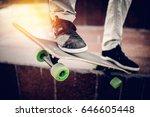 skateboarder guy is getting... | Shutterstock . vector #646605448