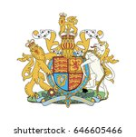 royal coat of arms of the... | Shutterstock .eps vector #646605466