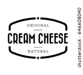 cream cheese vintage stamp... | Shutterstock .eps vector #646608040