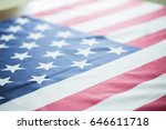 crumpled of united states of... | Shutterstock . vector #646611718