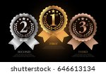 1st  2nd  3rd sports awards... | Shutterstock .eps vector #646613134