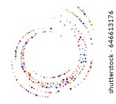 cover from rainbow confetti.... | Shutterstock .eps vector #646613176