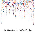 cover from rainbow confetti. ... | Shutterstock .eps vector #646613194