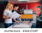 two young woman working in... | Shutterstock . vector #646615189