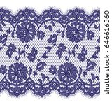 seamless vector blue lace... | Shutterstock .eps vector #646616560
