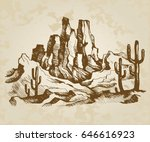 hand drawn vector sketch.... | Shutterstock .eps vector #646616923
