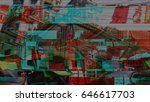 glitch image of a building | Shutterstock . vector #646617703