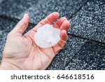 hail in a hand after hailstorm | Shutterstock . vector #646618516
