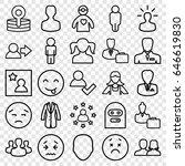 avatar icons set. set of 25...   Shutterstock .eps vector #646619830