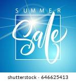 sale banner  poster handwriting ... | Shutterstock .eps vector #646625413