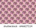 raster cute floral seamless... | Shutterstock . vector #646627114
