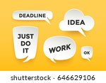 set of paper bubble cloud talk... | Shutterstock .eps vector #646629106