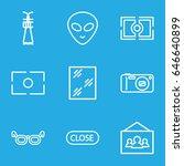 frame icons set. set of 9 frame ... | Shutterstock .eps vector #646640899
