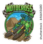 motocross championship | Shutterstock .eps vector #646643680