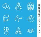 uniform icons set. set of 9... | Shutterstock .eps vector #646643734