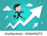 running to success. business... | Shutterstock .eps vector #646644673