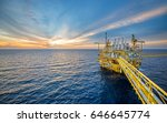 offshore oil and gas rig... | Shutterstock . vector #646645774
