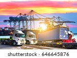 industrial logistics and... | Shutterstock . vector #646645876