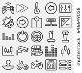 control icons set. set of 25... | Shutterstock .eps vector #646649038