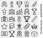first icons set. set of 25... | Shutterstock .eps vector #646649104