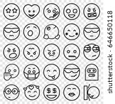 emoji icons set. set of 25... | Shutterstock .eps vector #646650118
