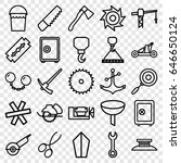 steel icons set. set of 25... | Shutterstock .eps vector #646650124