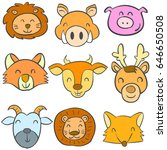 doodle of animal colorful cute... | Shutterstock .eps vector #646650508