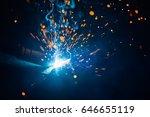 artistic welding sparks light ... | Shutterstock . vector #646655119