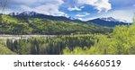 Canada mountains sulphur gate Grande Cache - stock photo